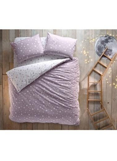 Hibboux 200x220 Star Nevresim + Yastık Kılıfı - Lavender Renkli